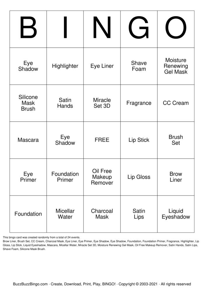Download Free MK Bingo! Bingo Cards