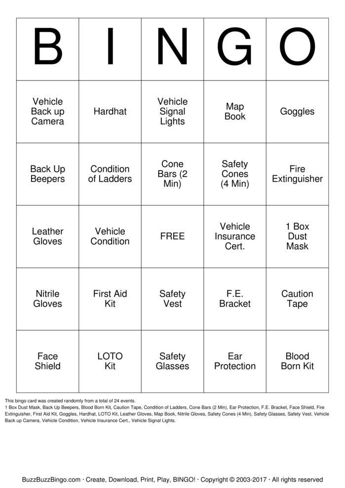 Download Free Custom Bingo Cards