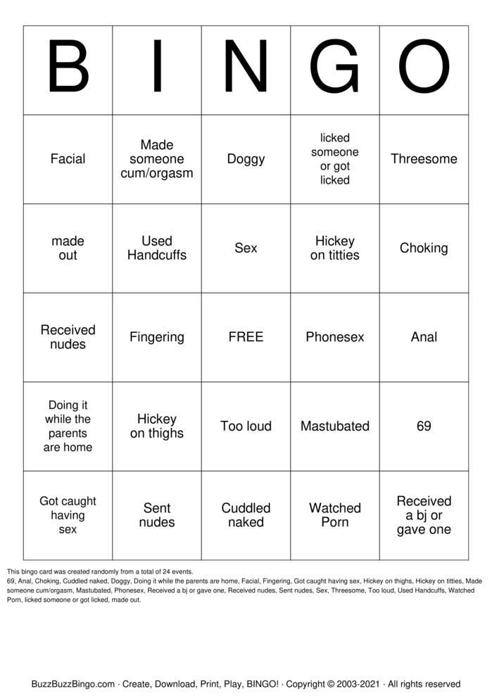 Download Free Freaky Bingo Bingo Cards