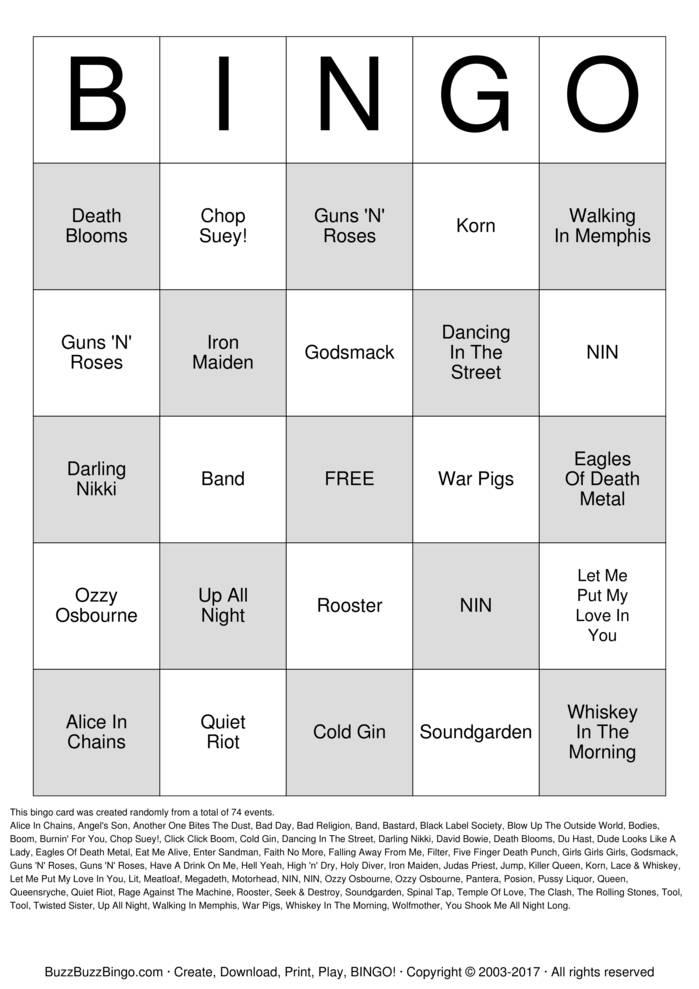 Download Free SHIPROCKED Bingo Cards