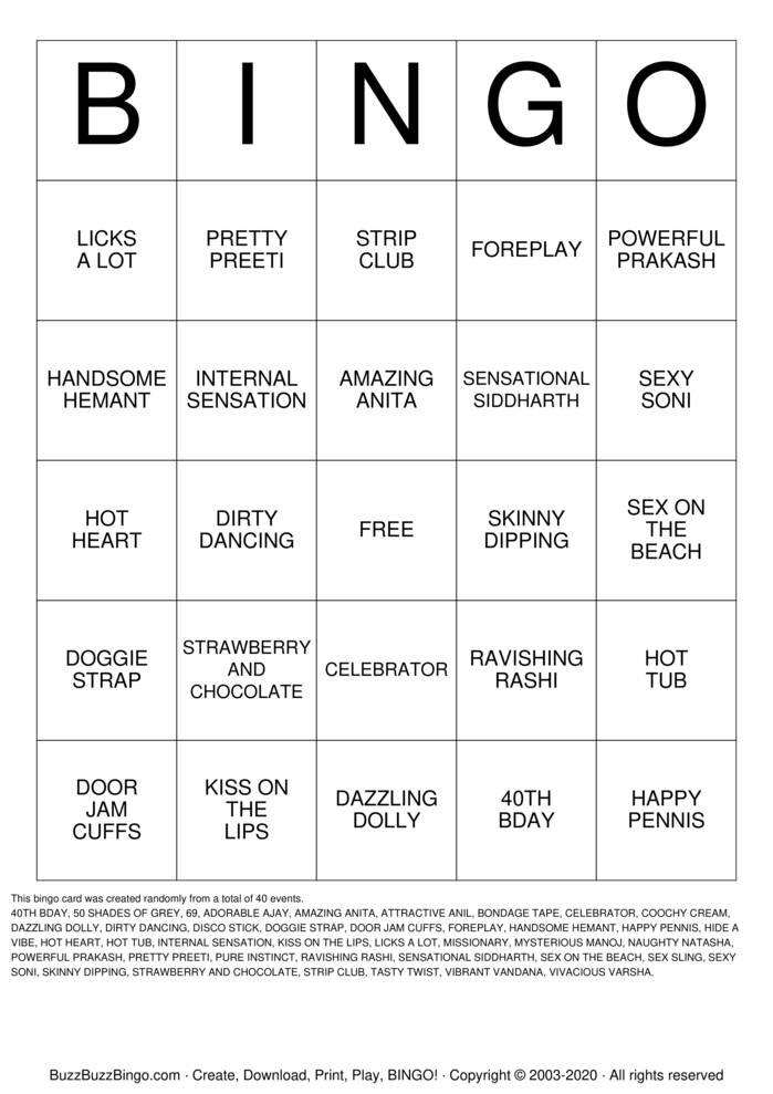 Download Free PRAKASHS 40TH Bingo Cards