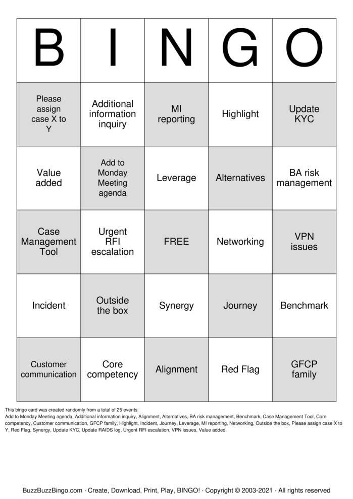 Download Free SRU Buzzword Bingo Bingo Cards