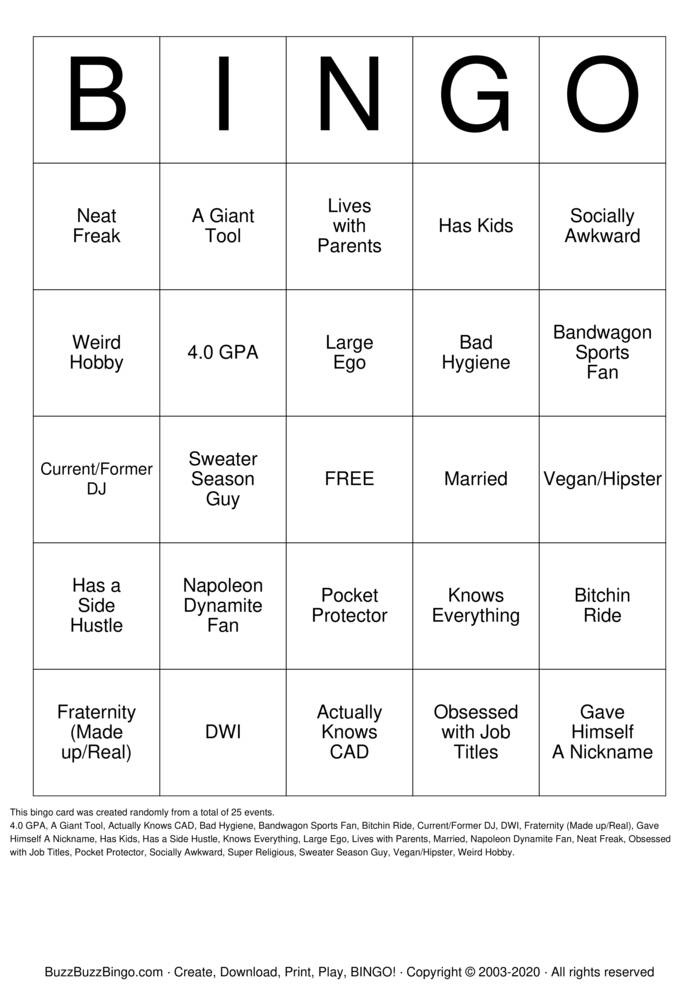 Download Free New Hire Bingo Cards