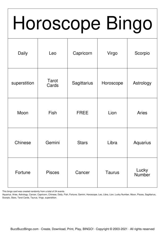 Download Free ZXA Bingo Cards