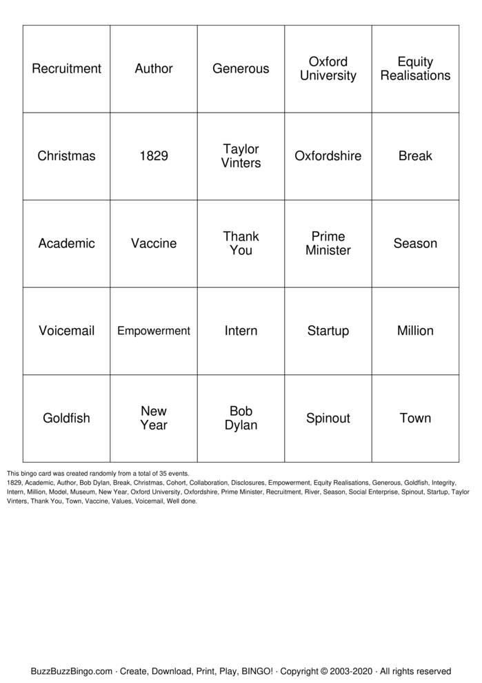 Download Free Christmas Quiz Bingo Bingo Cards