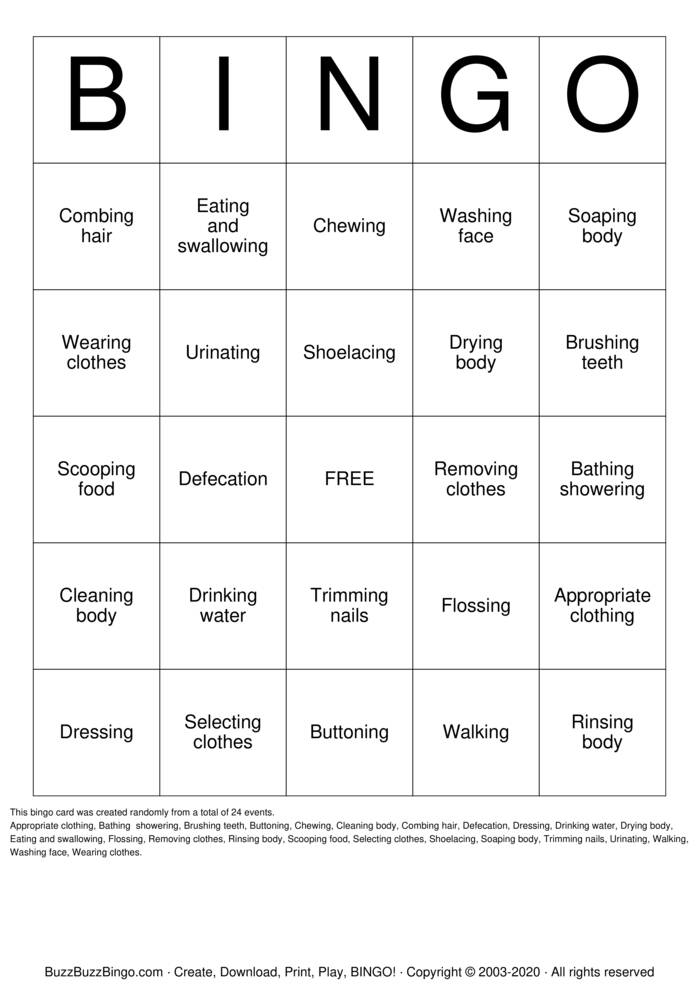 Download Free ADL Bingo Bingo Cards