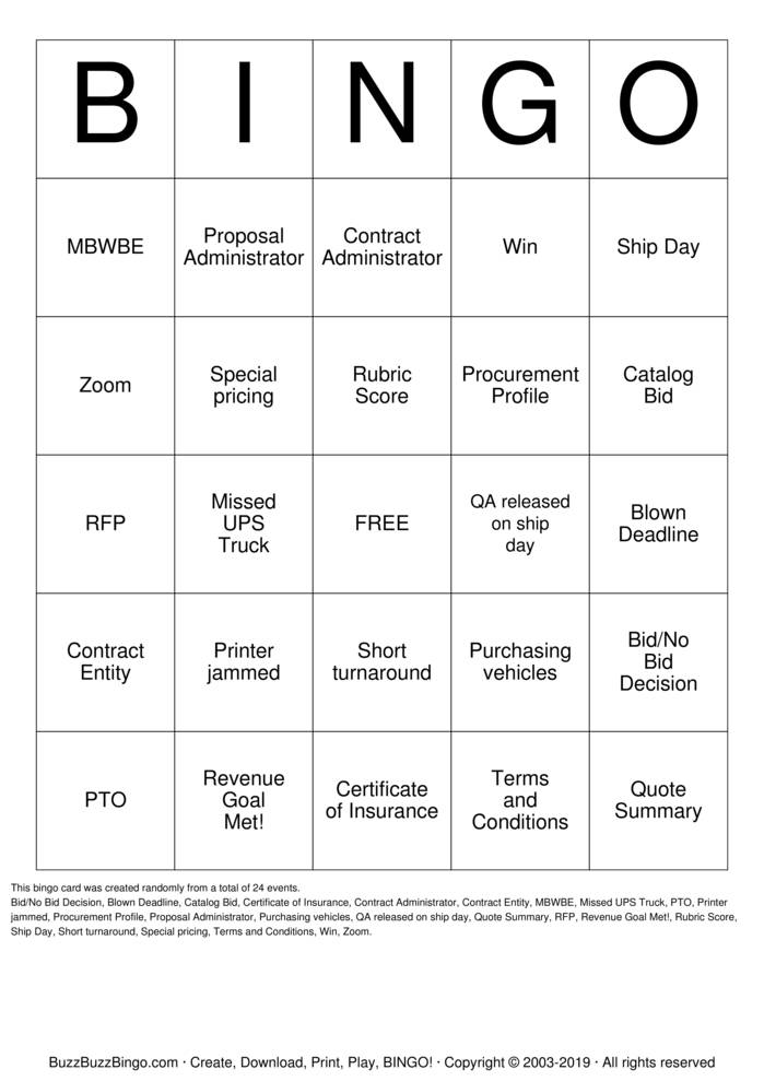 Download Office Bingo Cards