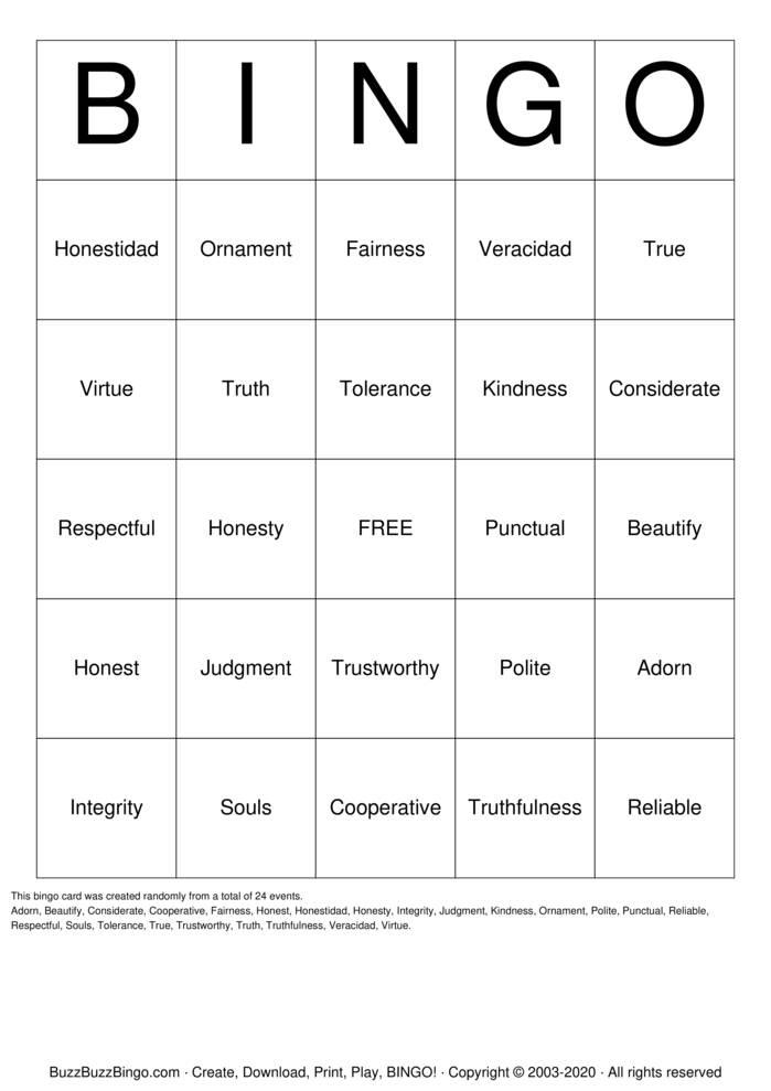 Download Free Card Bingo Cards