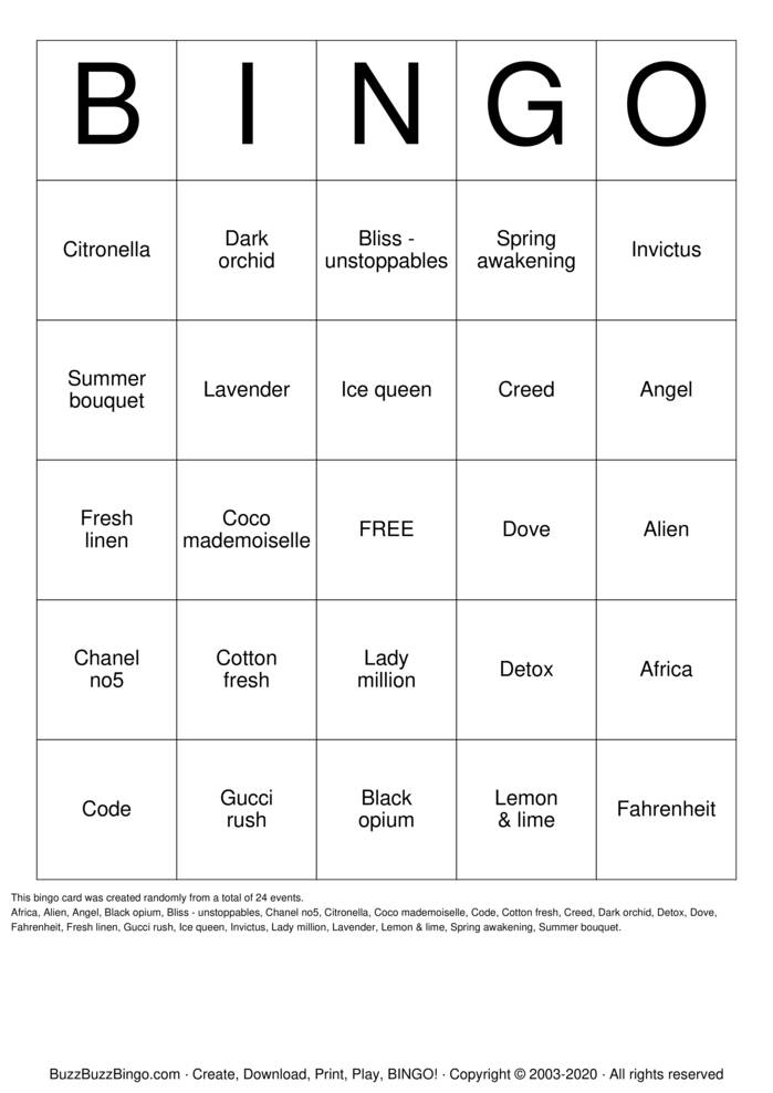 Download Free Krizma bingo Bingo Cards
