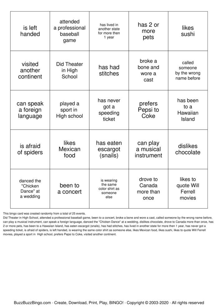Download Free Find Someone Who... Bingo Cards
