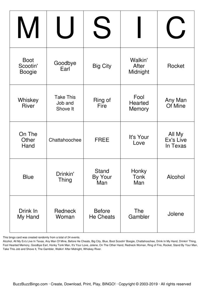 It is an image of Musical Bingo Cards Printable pertaining to party