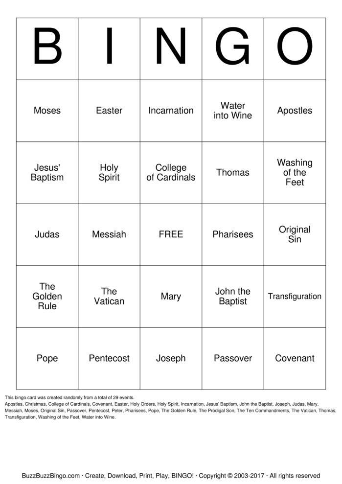 Buzz free bingo game
