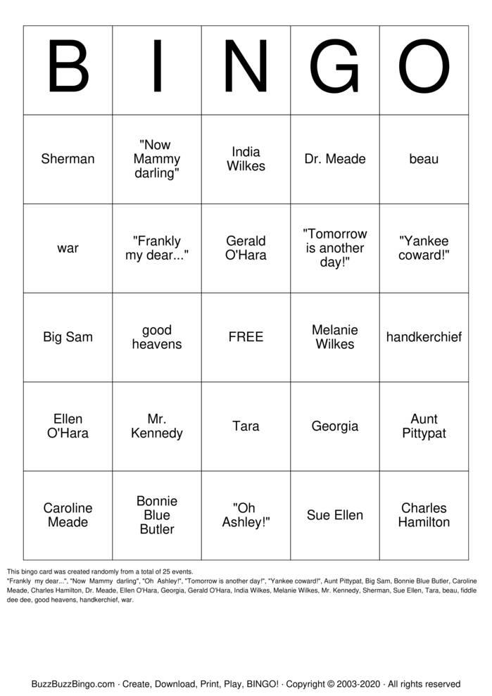 Download Free Google Bingo Cards