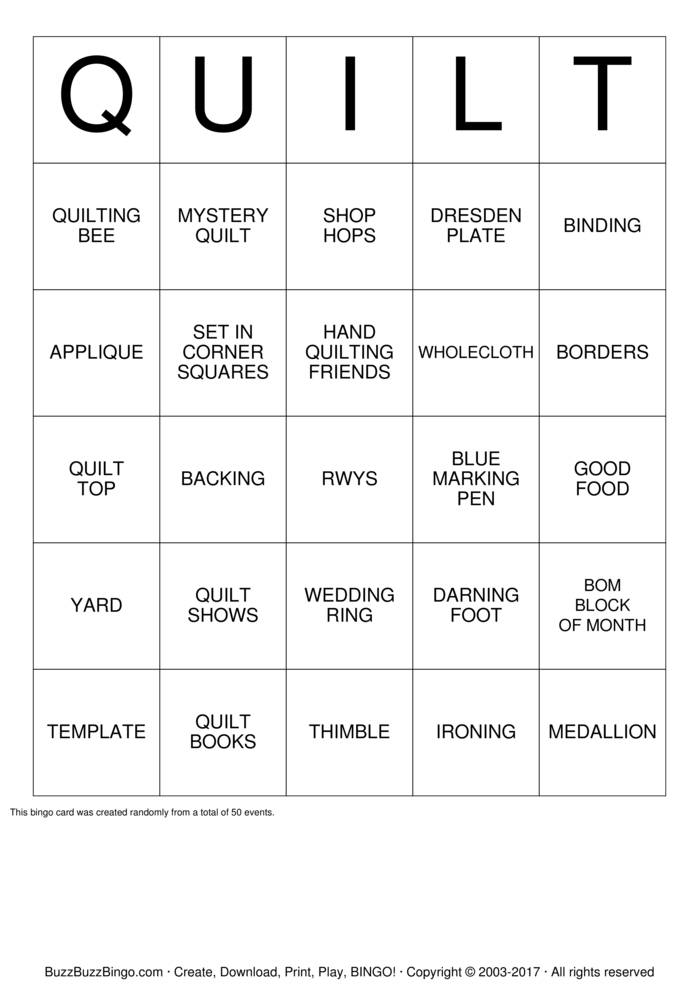 Download Free Reap What You Sew Bingo Cards