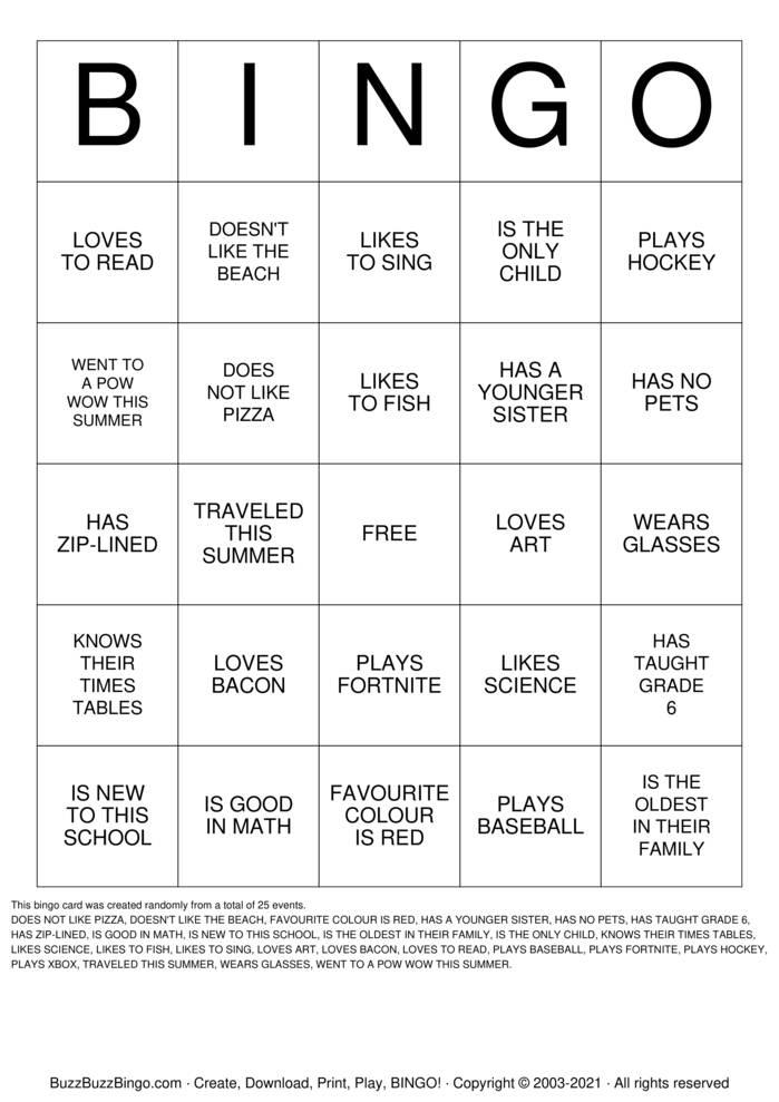 Download Free ICEBREAKER BINGO Bingo Cards