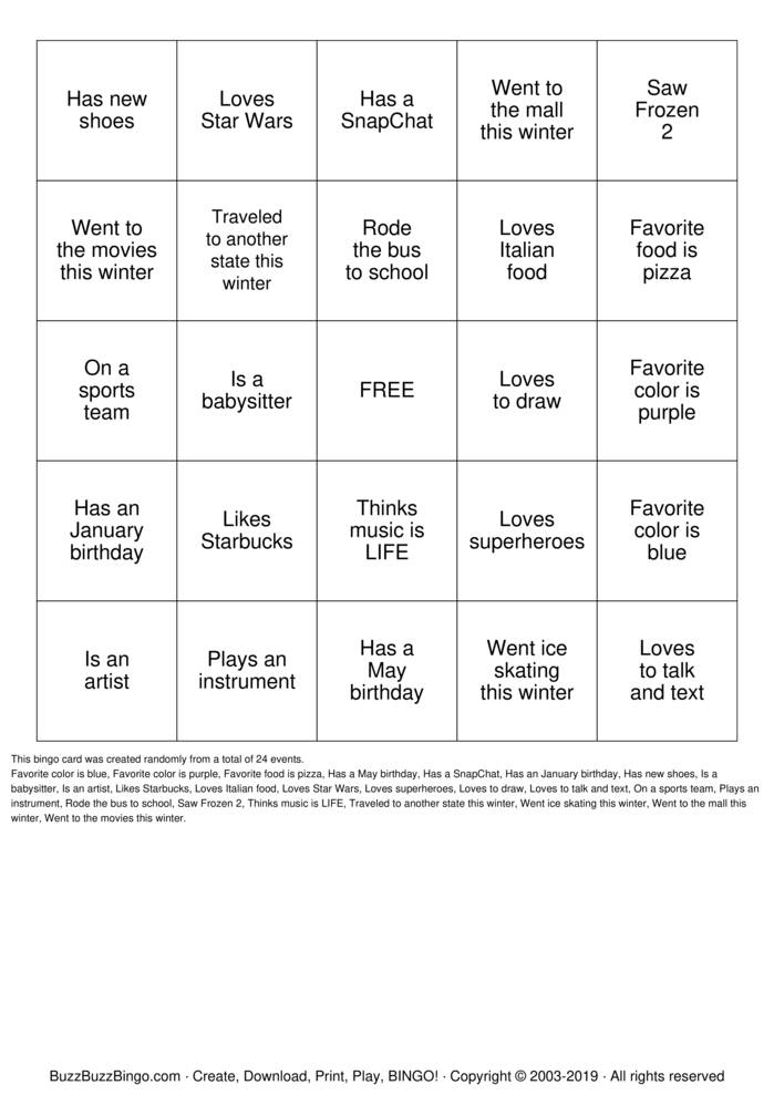 Friends Bingo In Ottawa