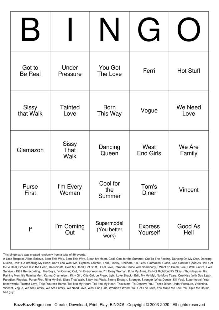 Download Free Pride Bingo Cards