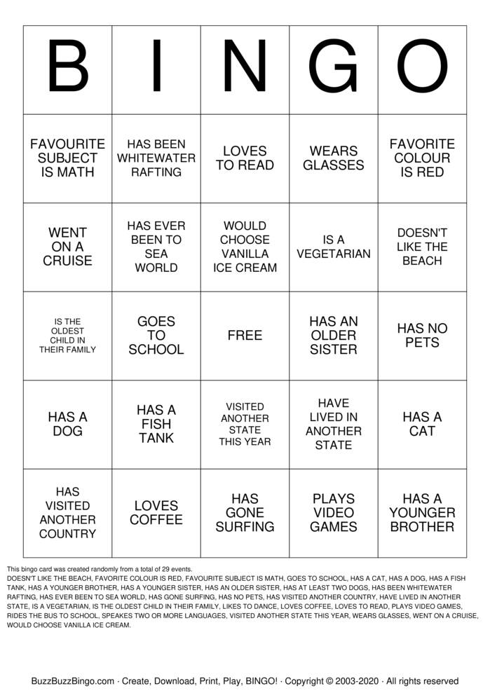 Download Free ICEBREAKER BING Bingo Cards