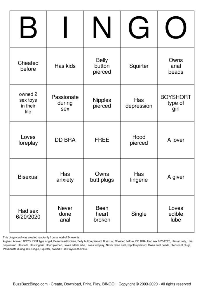 Download Free Angie's Naughty Bingo  Bingo Cards