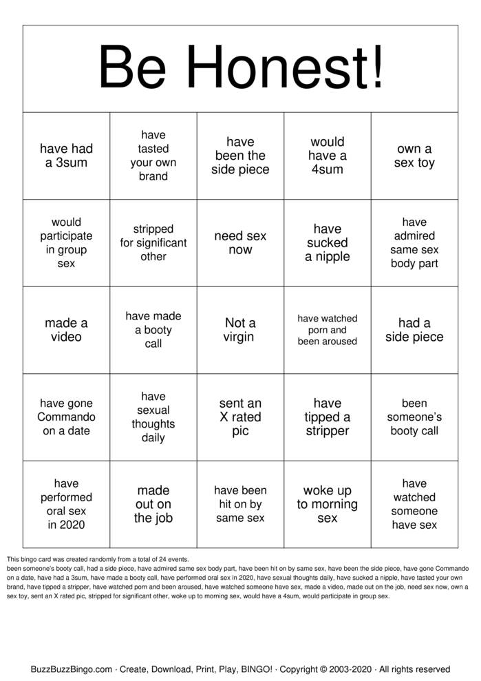 Download Free NSFW Bingo Bingo Cards