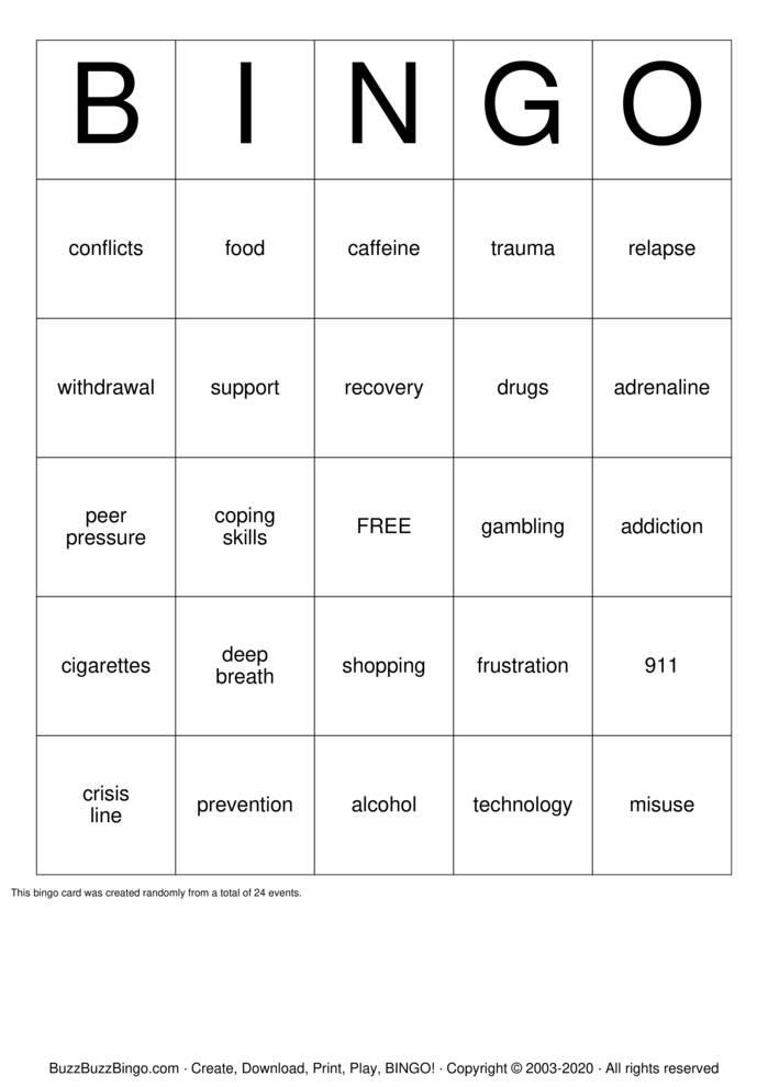Download Free nursing Bingo Cards