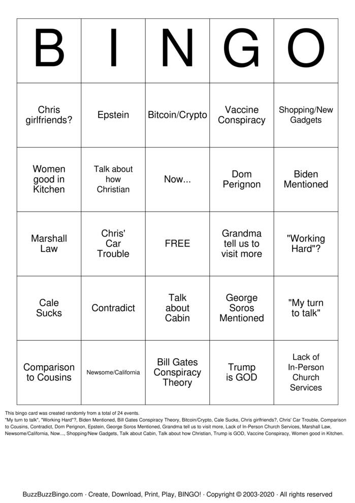 Download Free Christmas 2020 Bingo Cards