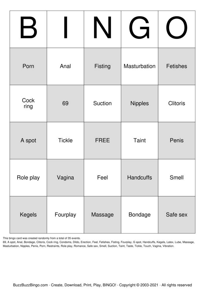 Download Free Pure Romance  Bingo Cards