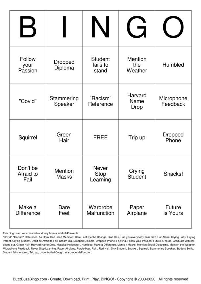 Download Free Dinkle! Bingo Cards