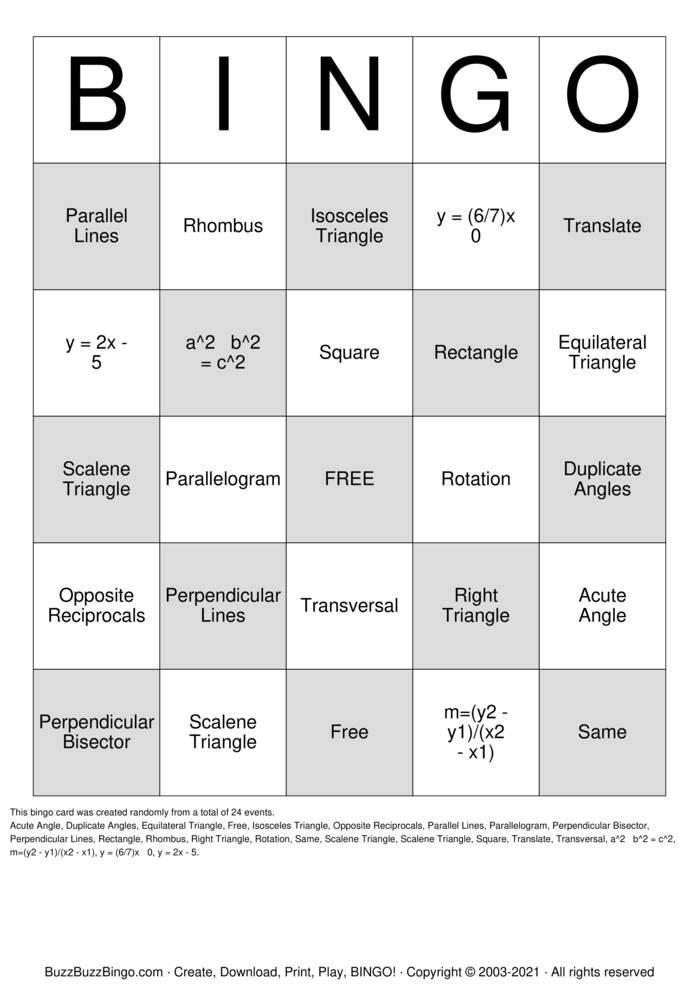 Download Free Module 1 Unit 1 Bingo Bingo Cards