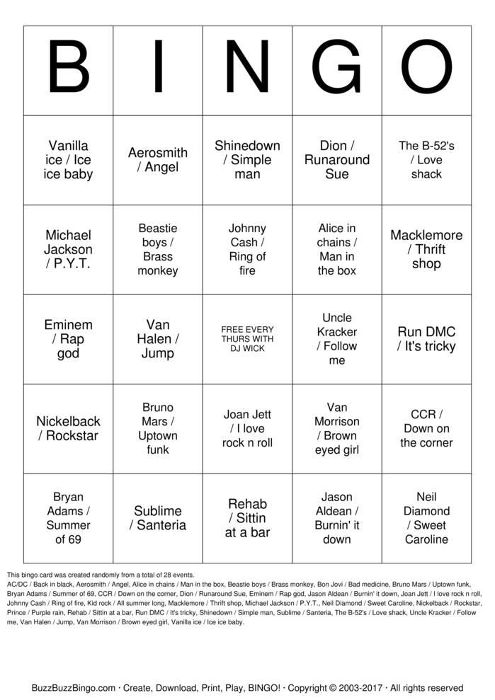 Download Free DETROIT PUB BINGO Bingo Cards