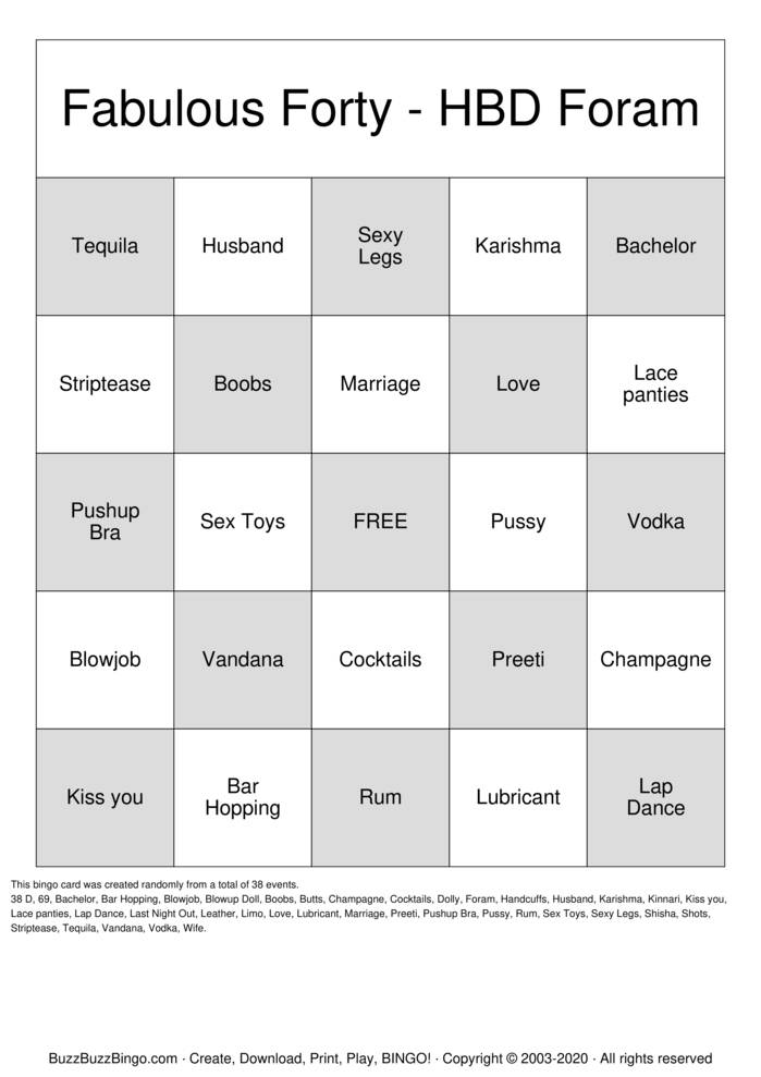 Download Free Bachelor Party Bingo Cards