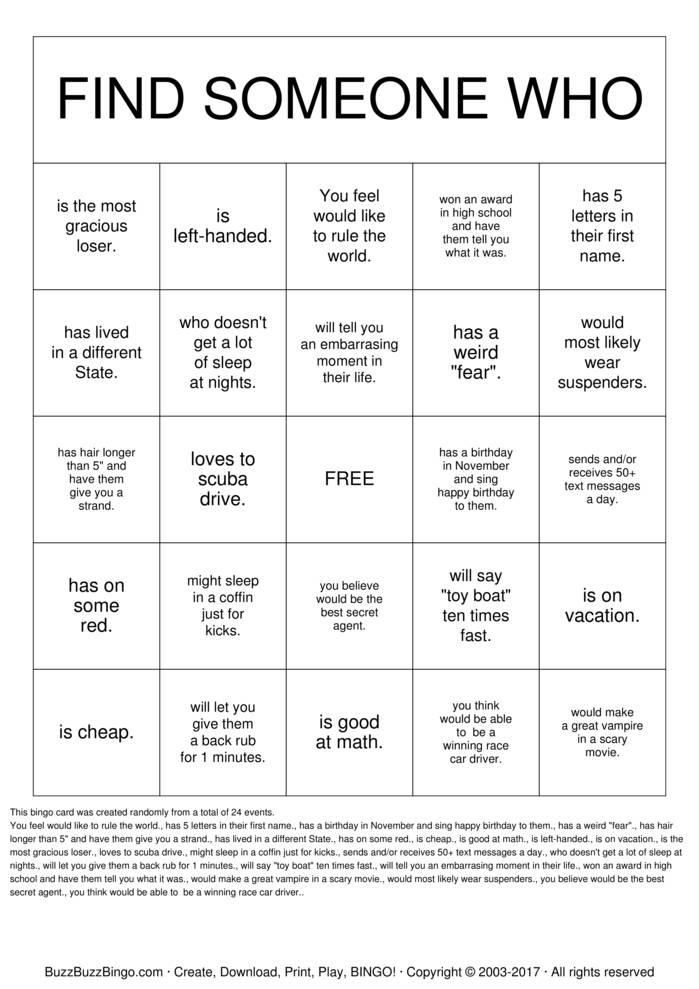 Spielregeln Bingo Pdf