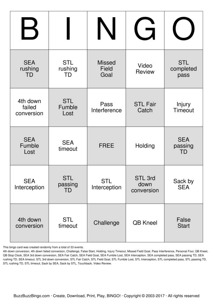 Download Leadership Summit Football Bingo Cards