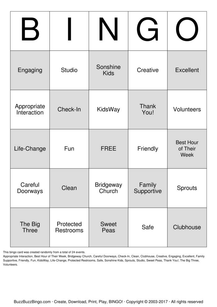 Download Volunteer Appreciation Bingo Cards