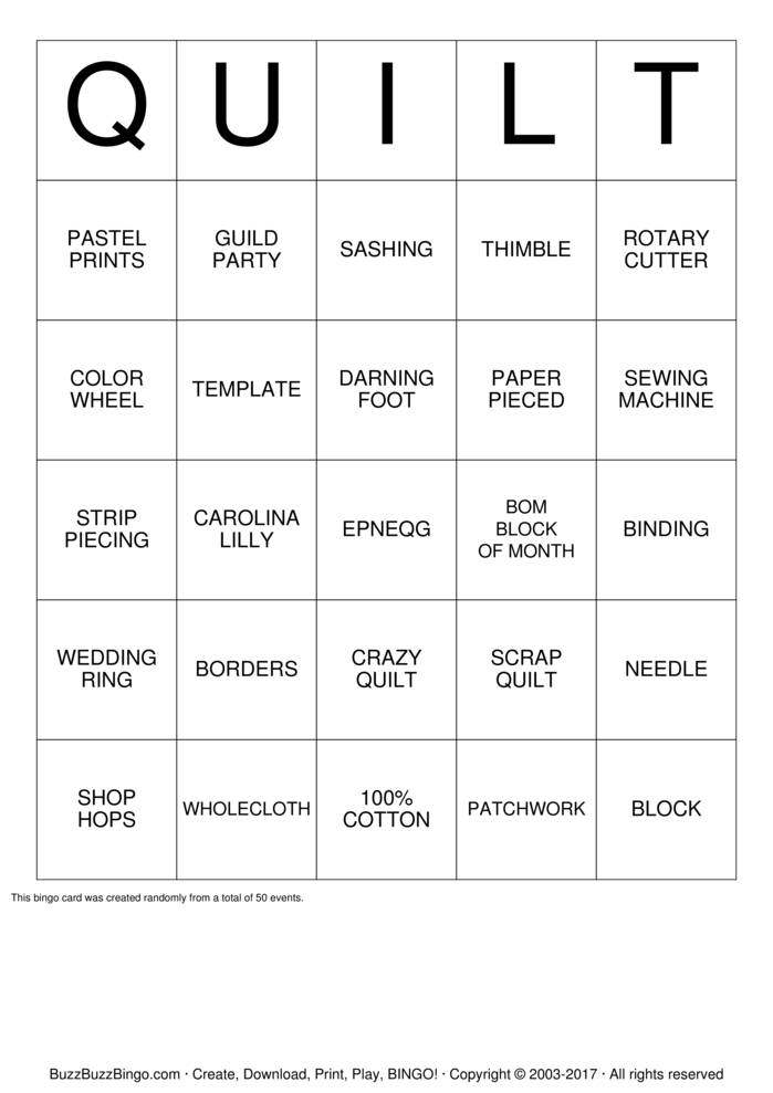 Custom Bingo Card
