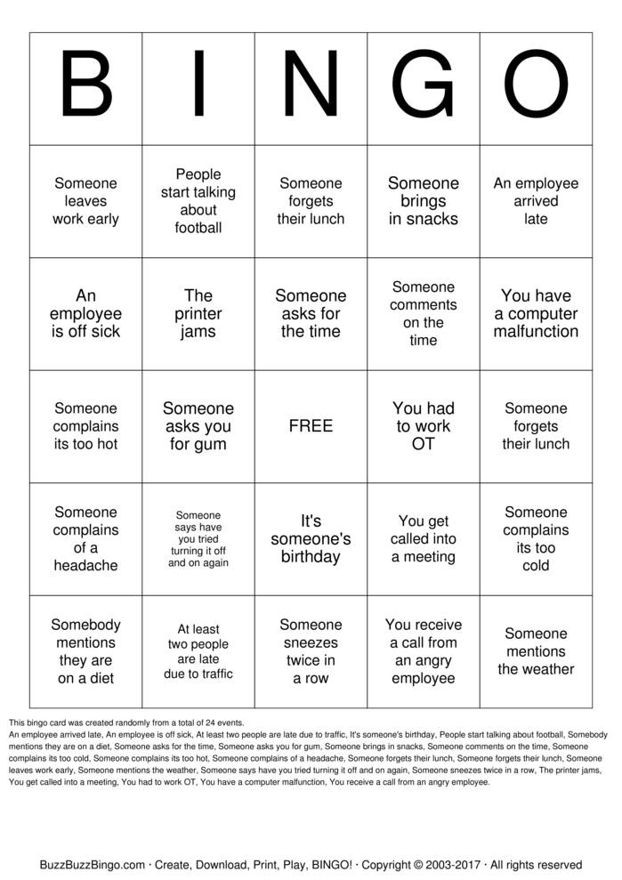 Download Free Payroll Week Bingo Cards