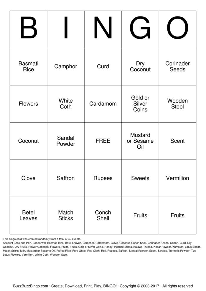 Download Diwali Bingo Cards
