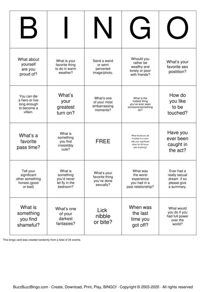 Download Free Kinky bingo  Bingo Cards