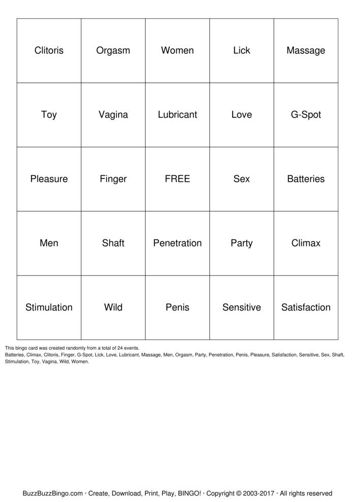 Download Free Pleasure Bingo Bingo Cards