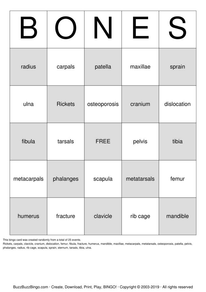 Download BONE Bingo Cards