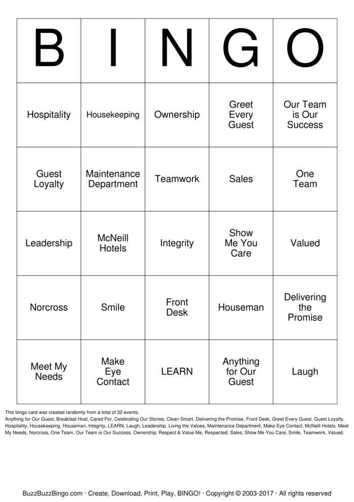 Download Free Employee Appreciation Bingo Cards