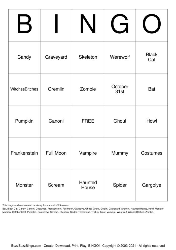 Download Free Tops weight loss Bingo Cards
