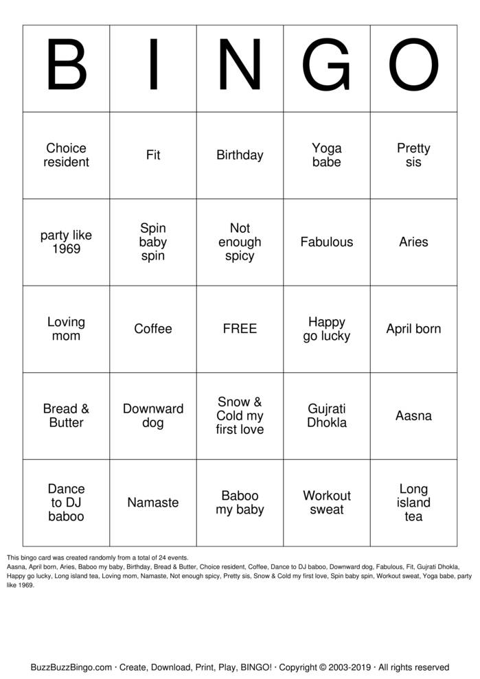 Download 50th Birthday Bingo Cards