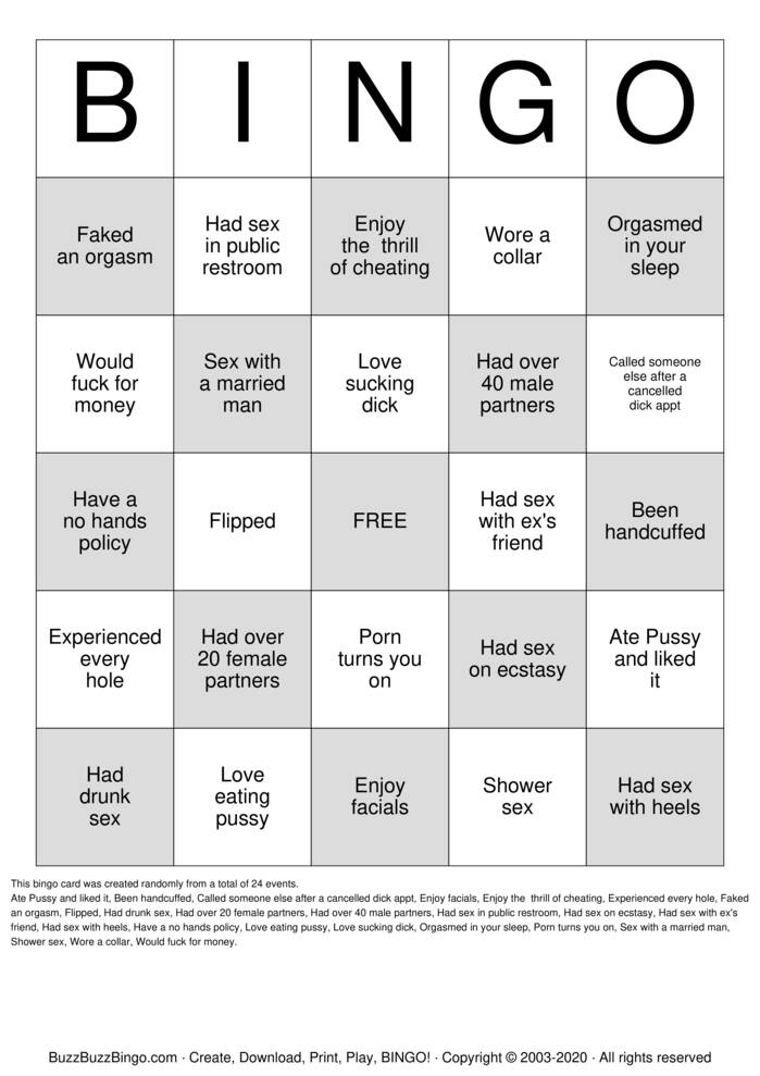 Download Free Are You A Freak Bingo Cards