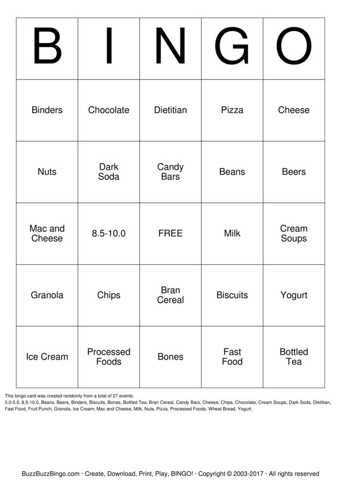 Download Free Phosphorus Bingo Cards