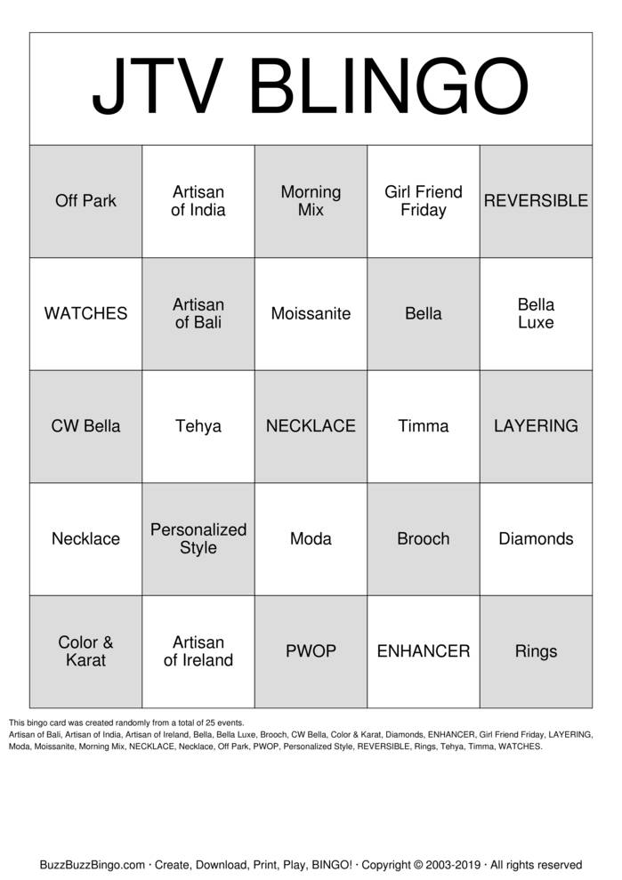 Download Blingo Bingo Cards