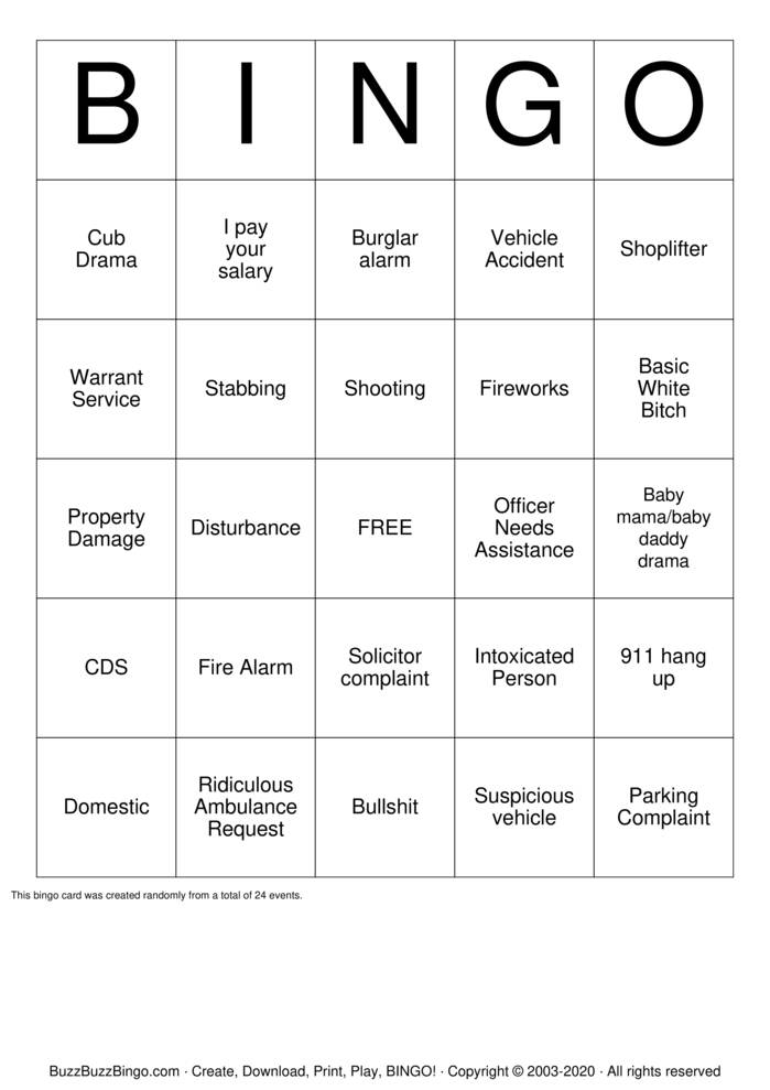 Download Free Dispatch Labor Day BINGO Bingo Cards