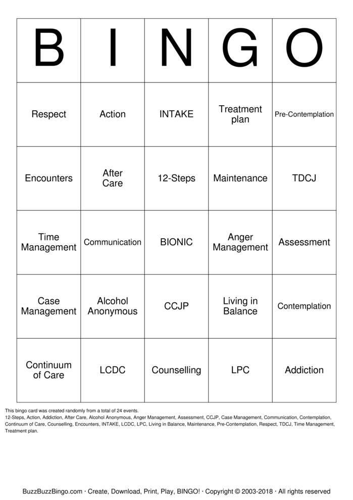 Download Free MTC Bingo Cards
