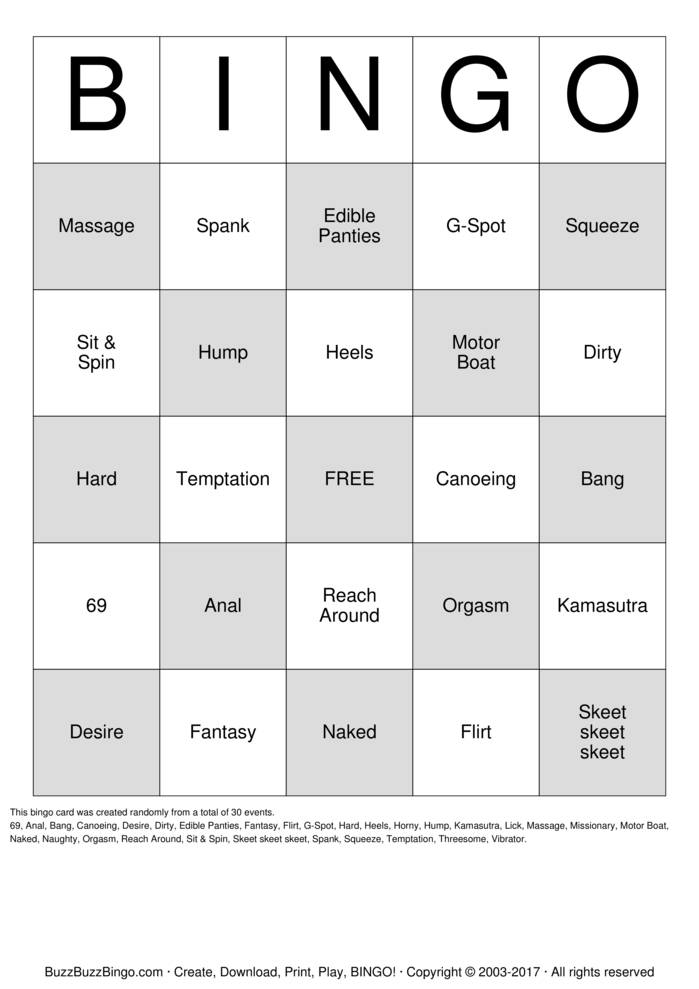 Download Free DIRTY  Bingo Cards