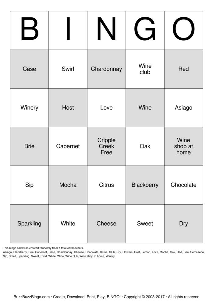 Download Wino! Bingo Cards